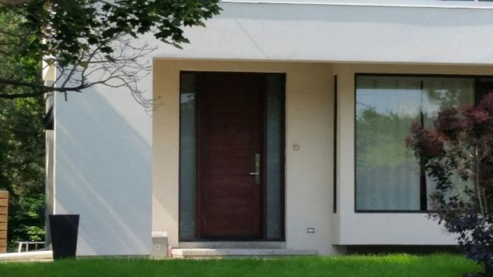 Modern Fiberglass Door with 2 side lites nstalled in Etobicoke