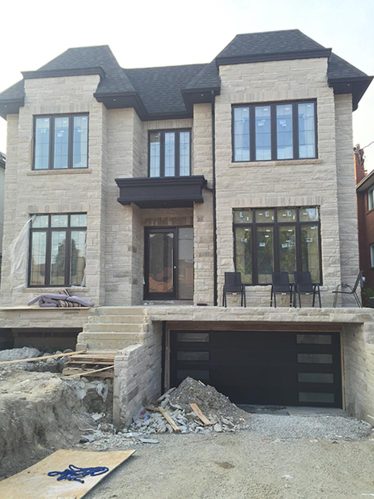 Modern Front Door-Modern Windows and Modern Garage Door Installed in new house in Oakville-