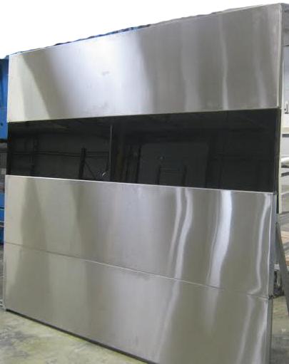 Modern Garage Door with Glass Panel