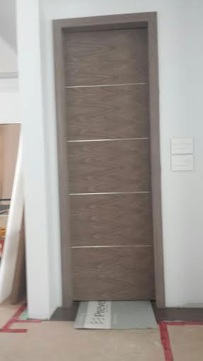 Modern Interior Doors-Woodbrain Fiberglass Doors installed in Modern Home