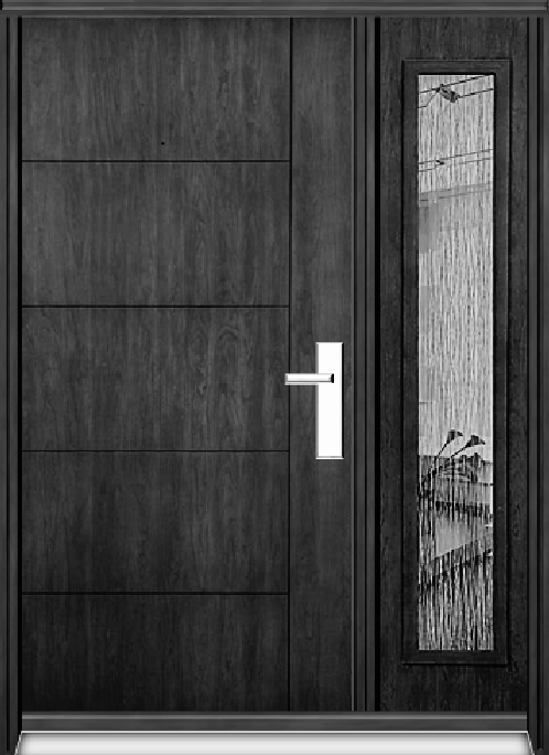 Richerson Mastergrain Contemporary Collection Fiberglass Entry Doors