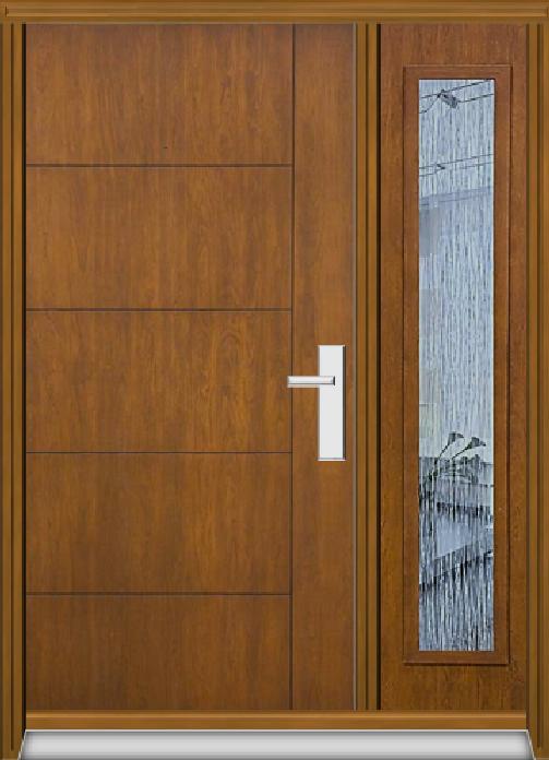 Richerson Mastergrain Fiberglass Door with Side Lite Contemporary Collection