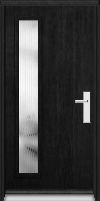 Richerson Mastergrain Fiberglass Entry Door with Side Lite Contemporary Collection