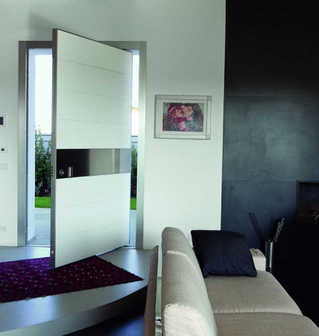 Solid Fiberglass Modern Contemporary Front Entry Door in Maple, Ontario by modern-doors.ca-Picture#MED165