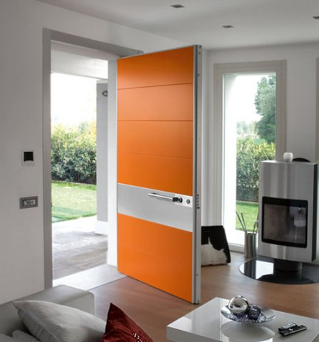 Solid Fiberglass Modern Contemporary Front Entry Door in Milton, Ontario by modern-doors.ca-Picture#MED166