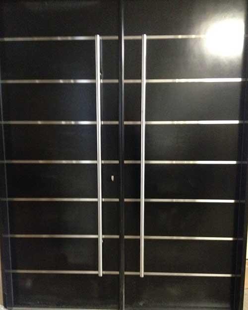 Solid Modern Contemporary Front Entry Doors with Steel Handel in Oakville, Ontario by modern-doors